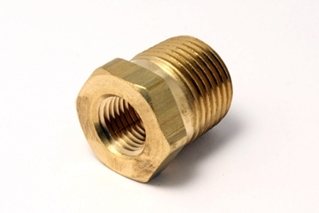 Picture of 1/4 NPT X 1/8 NPT HEX PIPE REDUCER BUSHING BRASS